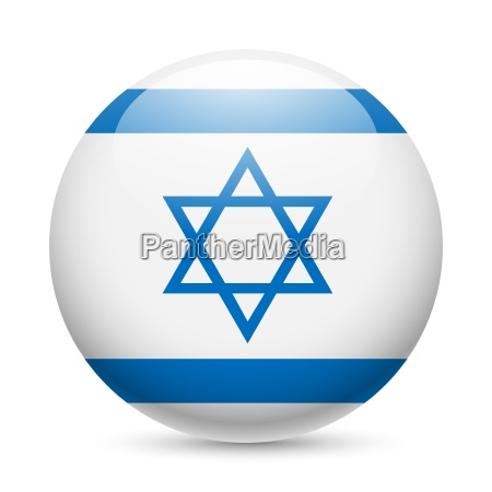 round glossy icon of israel