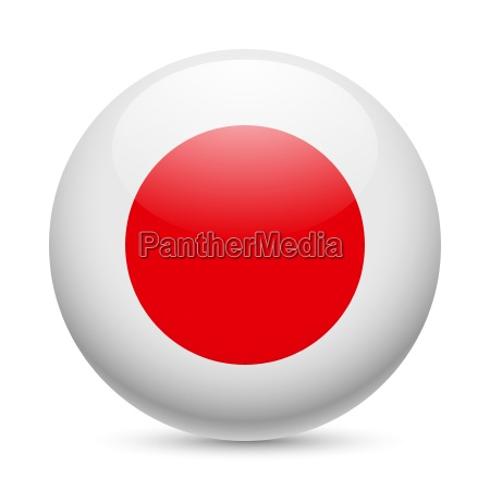 round glossy icon of japan