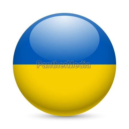 round glossy icon of ukraine