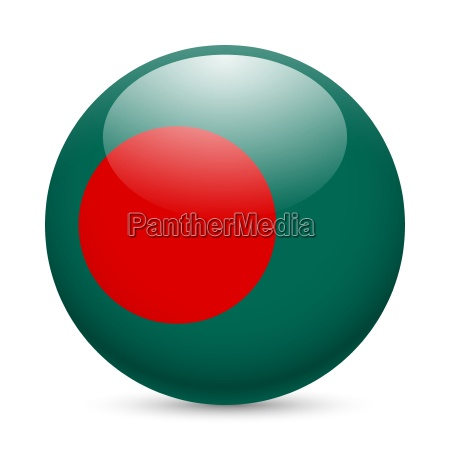 round glossy icon of bangladesh