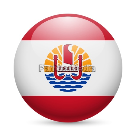 round glossy icon of french polynesia