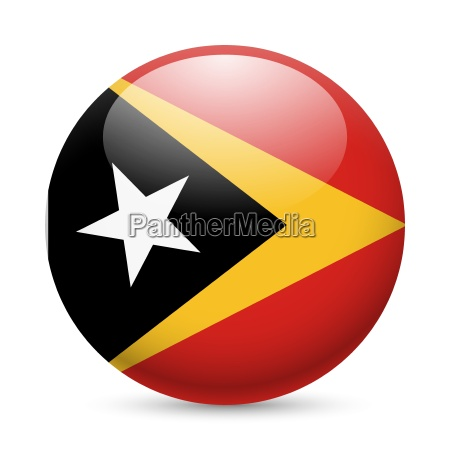 round glossy icon of east timor