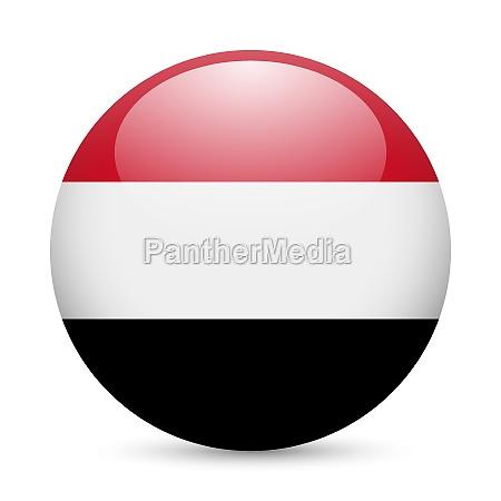 round glossy icon of yemen