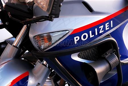motorrad der polizei