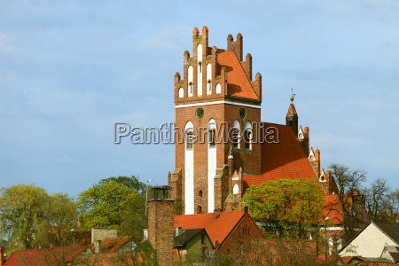 gniew town with teutonic castle at