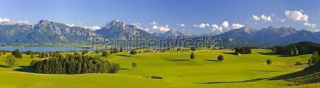 panorama landschaft im allgaeu bayern