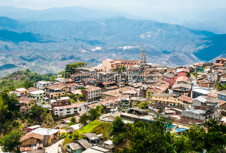 zaruma town in the andes