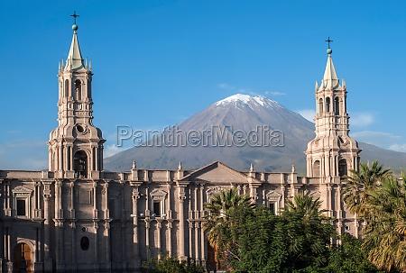 vulkan el misti blick auf die