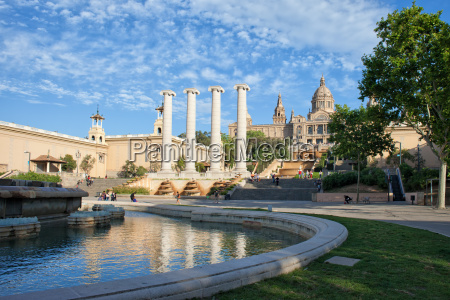 stadt von barcelona malerische landschaft