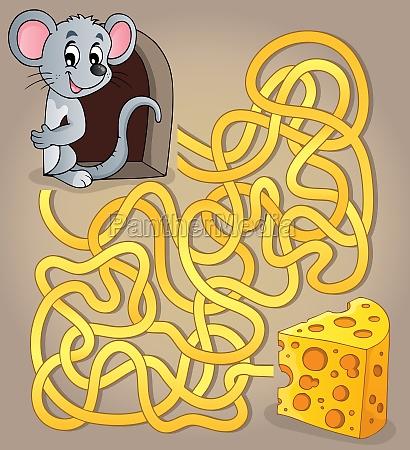 maze 1 mit maus und kaese