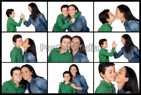 different expressions between a mother and