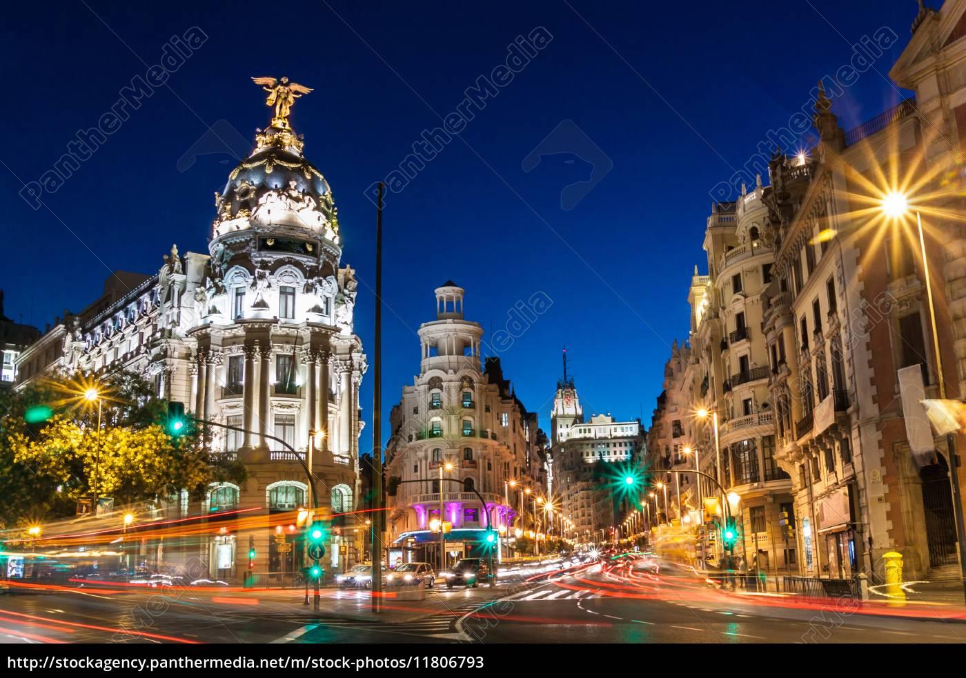 gran, via, in, madrid, spanien, europa. - 11806793