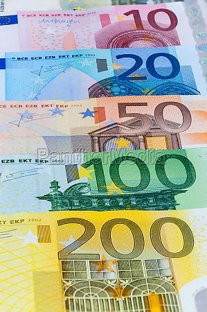 hintergrund der euro banknoten