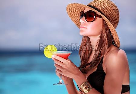 trinken cocktail am strand