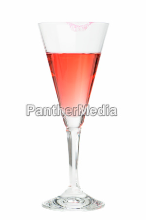 lipstick on champagne glass