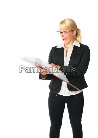 businesswoman with documents