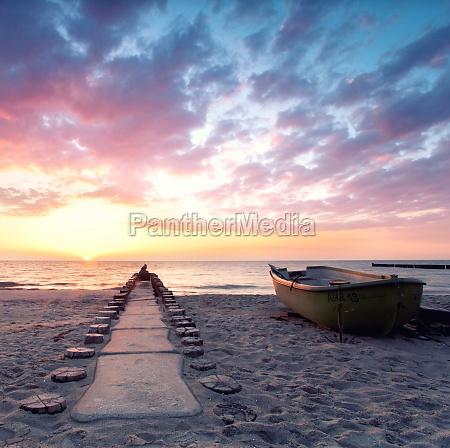 stille am strand sunset
