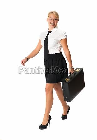 erfolgreiche, geschäftsfrau, mit, aktenkoffer - 11819461