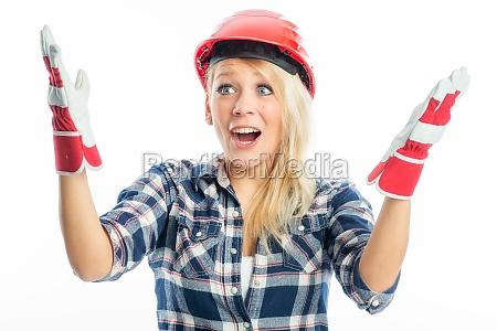 aufgeregter handwerker