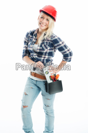 handyman with water balance