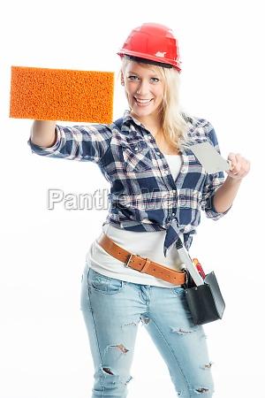 handwerker, mit, werbefläche - 11820921