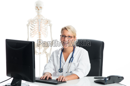 female doctor at the desk