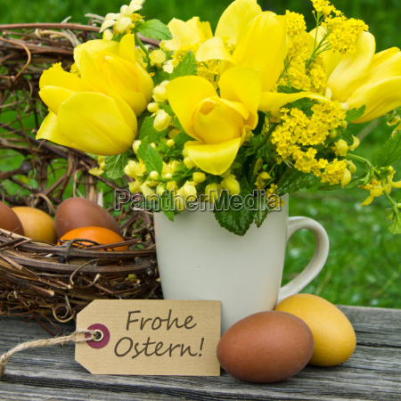 easter card text lettering german easter