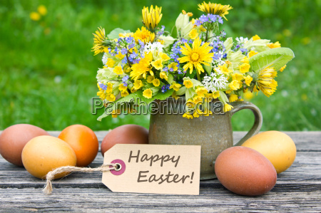 easter card text lettering english easter