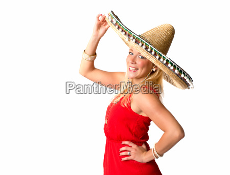 woman hat charme mexican sombrero