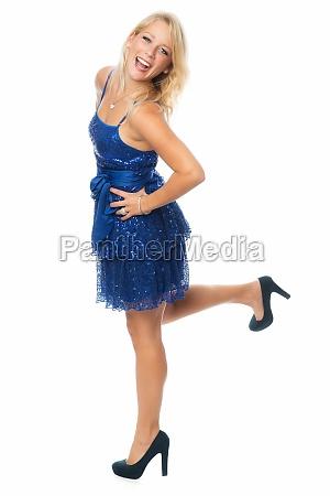 blonde woman dancing