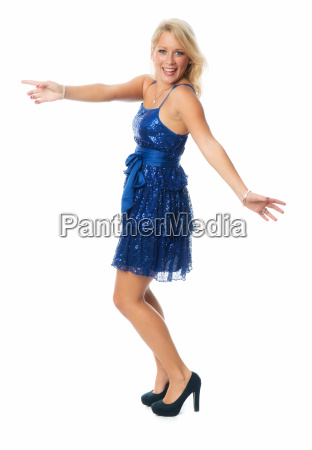 blonde woman dancing