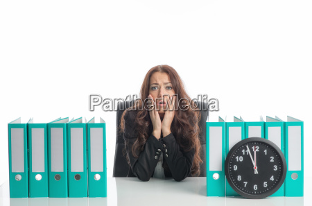 businesswoman under time pressure