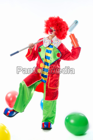 clown as a painter