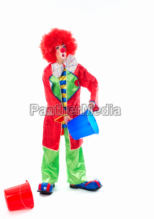 clown as a cleaner
