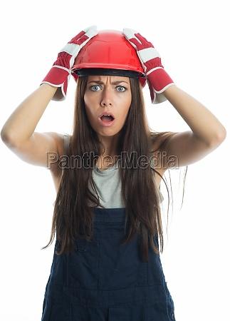 female artisans in workers gear is