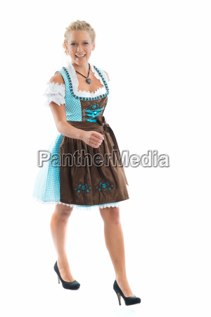 woman in dirndl dress