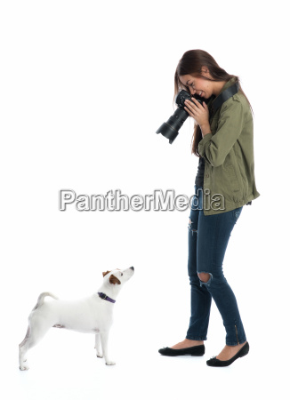 photographer photographed dog