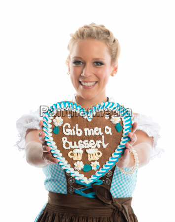 bavarian girl with lebkuchherz
