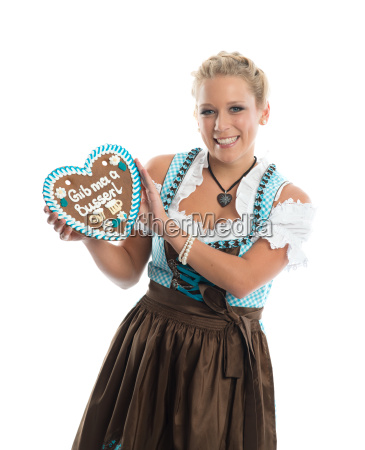 bavarian girl with lebkuchherz