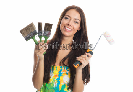 woman education painter house painter paint