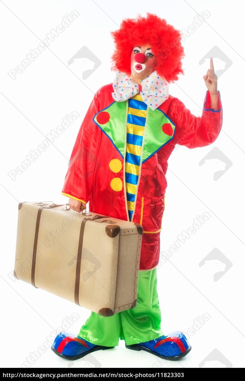 clown, mit, koffer - 11823303