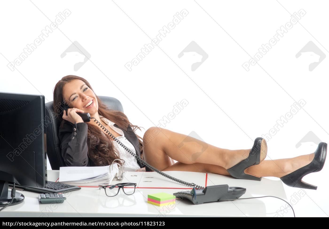 privatgespräch, im, büro - 11823123