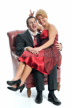 couple in love sitting on a
