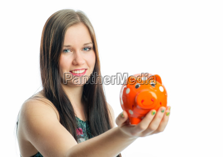 girl with piggy bank