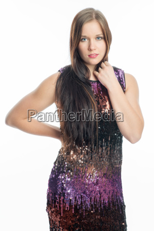 girl in sparkly dress