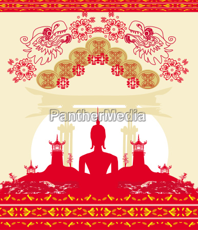 buddha abstract background beautiful ornament