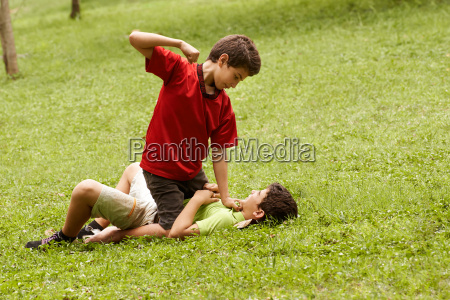 violent kid fighting and hitting scared