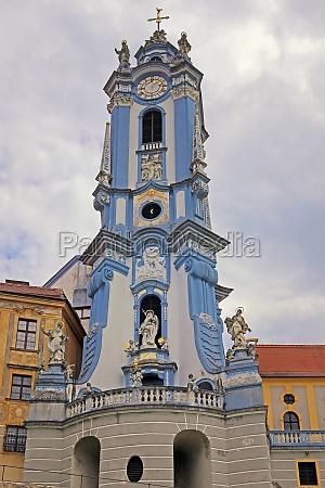 church danube steeple lower austria emblem