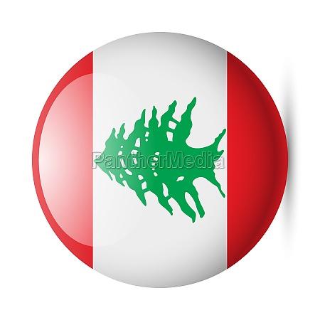 round glossy icon of lebanon