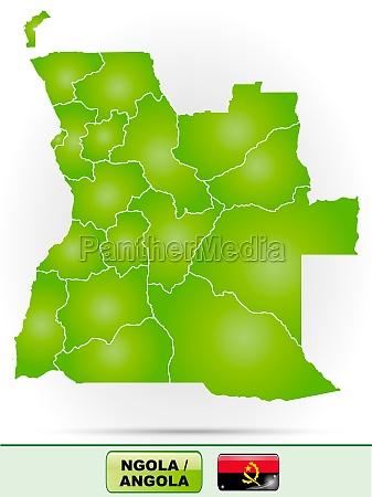 karte von angola